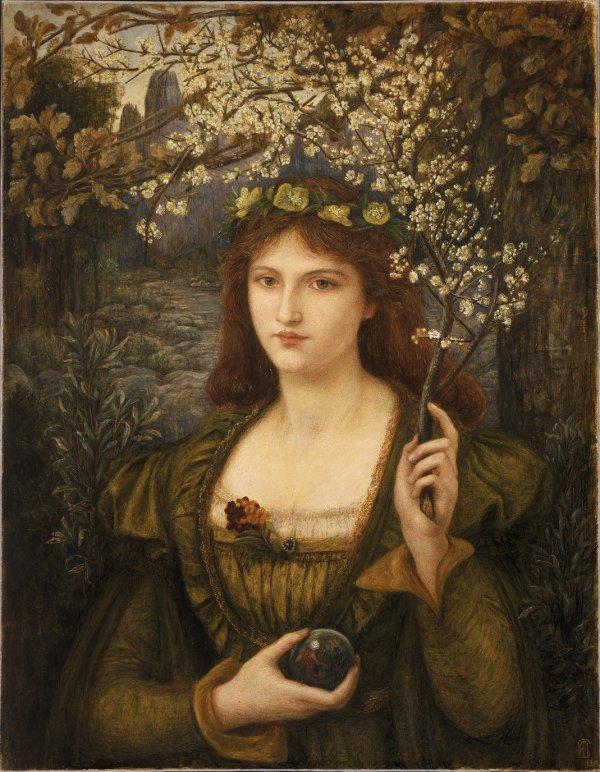Marie Spartali Stillman, Madonna Pietra degli Scrovigni, 1884,
