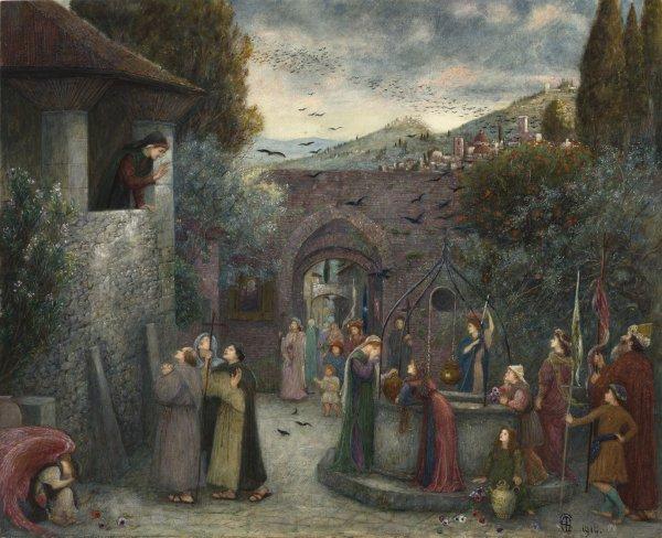 Marie Spartali Stillman, The Pilgrim Folk, 1914