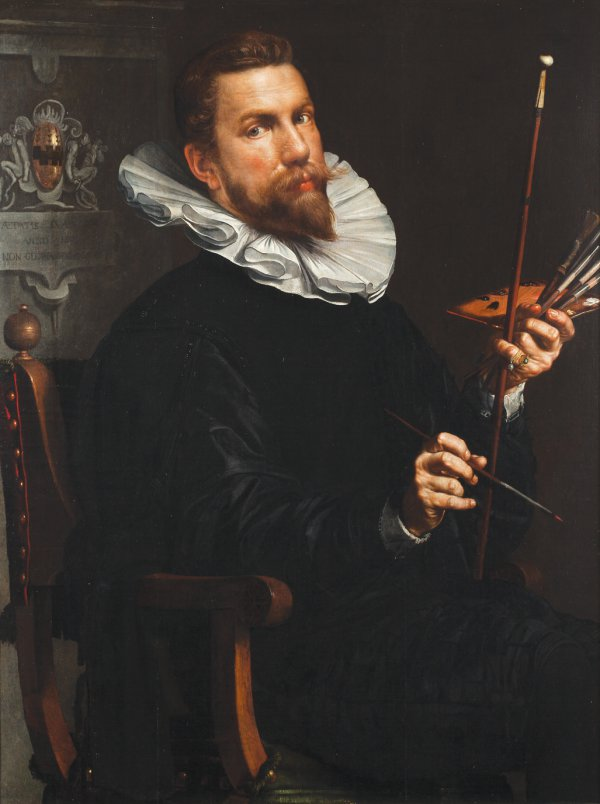 Joachim Anthonisz Wtewael, Self-Portrait, 1601