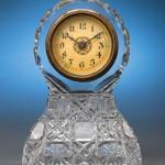 American brilliant cut glass clock by Bergen