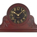 Mahogany tambour shelf clock