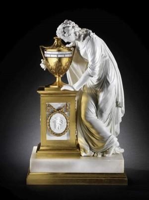 18th-century ormolu and Derby porcelain annular timepiece