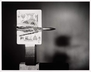 Harold Edgerton, Bullet through Jack of Hearts