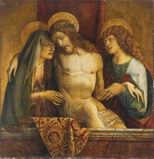 Carlo Crivelli, The Dead Christ between the Virgin and Saint John the Evangelist