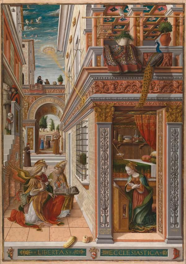 Carlo Crivelli, The Annunciation with Saint Emidius