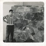 Natkin in his Chicago studio, circa 1957;