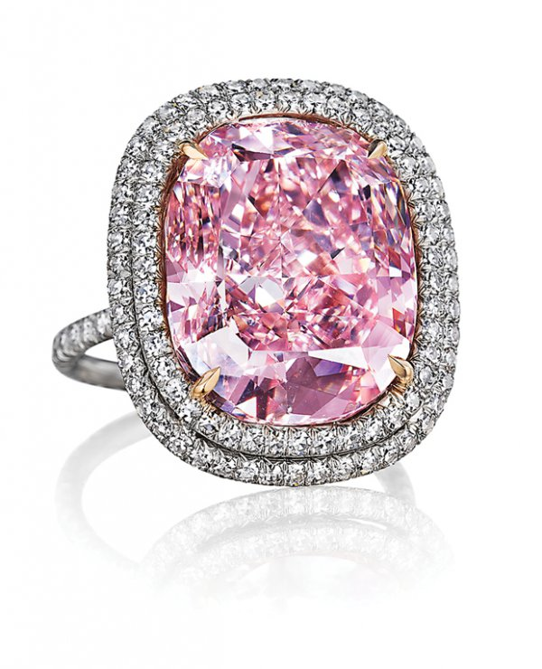 "Grima; ""Josephine,"" cushion-shaped fancy vivid pink diamond, 16.05 carats."