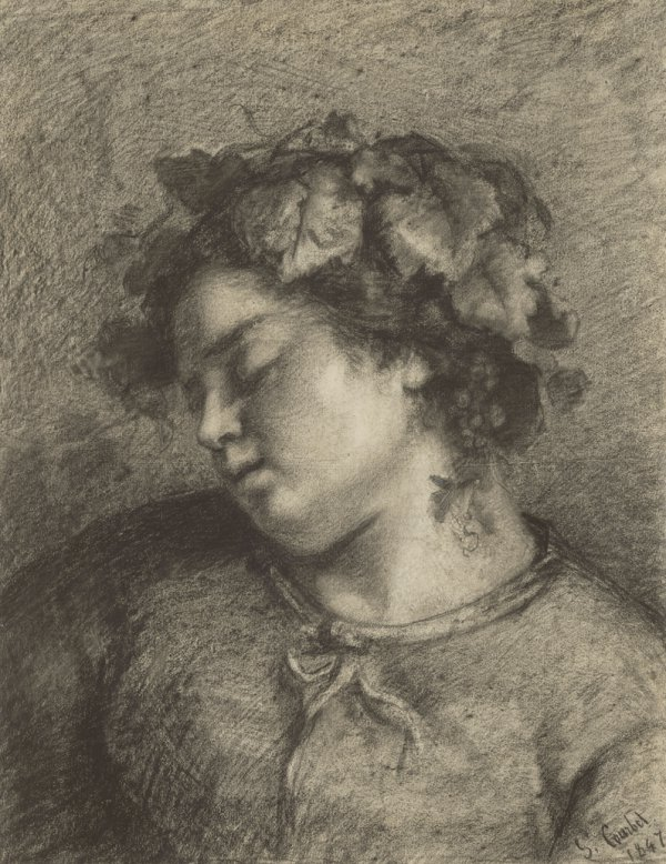 Gustave Courbet, Head of Sleeping Bacchante, 1847