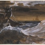 Théodore Géricault, Sailboat on a Raging Sea, about 1818 – 1819