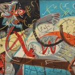 Jackson Pollock, Stenographic Figure, circa 1942