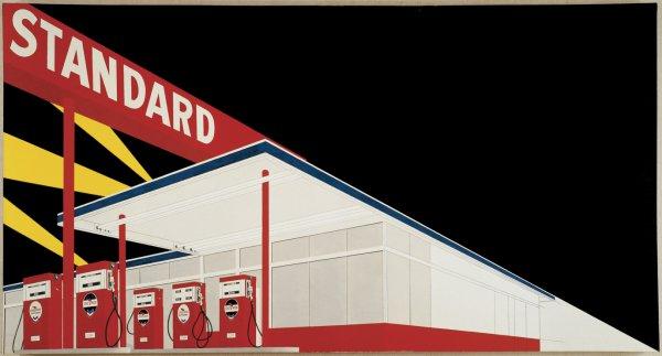 Edward Ruscha, Standard Station, Amarillo, Texas, 1963