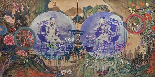 Hung Liu, Bubbles, 2015