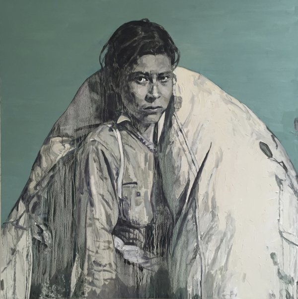 Hung Liu, Cotton Picker, 2015