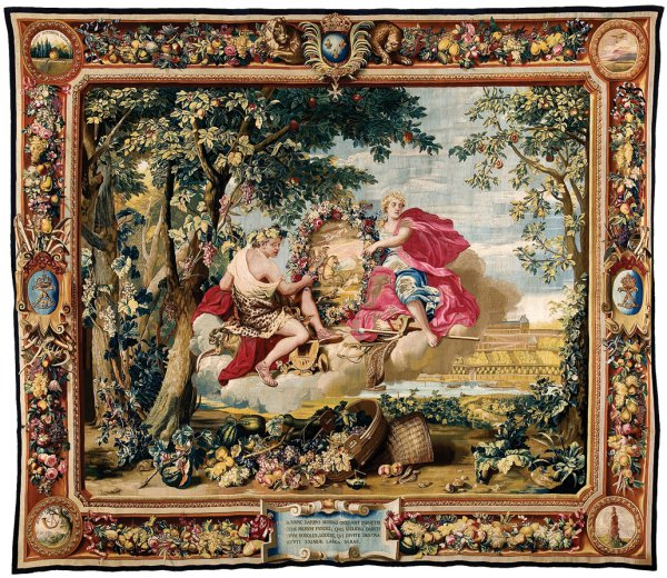 Autumn, before 1669 , wool, silk, and gilt metal-wrapped thread, 480 x 580 cm