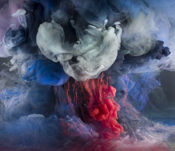 Kim Keever, Abstract 6196, 2013.