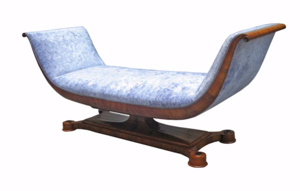 biedermeier chaise lounge vienna art antiques magazine