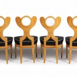 Suite of four Biedermeier side chairs attributed to Josef Danhauser