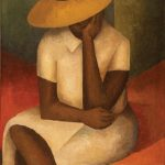 Norman Lewis, Girl with Yellow Hat, 1936