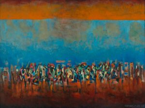 Norman Lewis, Title Unknown (March on Washington), 1965