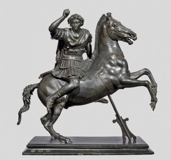 Small Statue of Alexander the Great astride Bucephalos, Roman