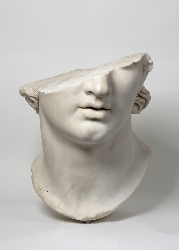 Fragmentary Colossal Head of a Youth, Greek, Hellenistic period