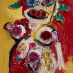 Karel Appel, Woman with Flowers No.1, 1963