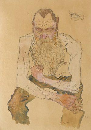 Oskar Kokoschka, Sitzender bärtiger Mann (Seated Old Man), 1907