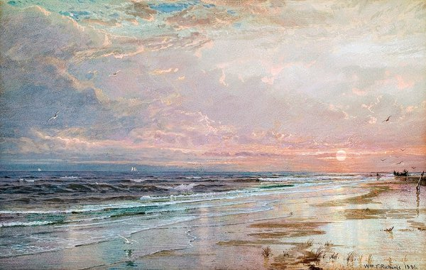 William Trost Richards, Sunrise, New Jersey Shore, 1881