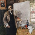 William Merritt Chase, Self-Portrait in 4th Avenue Studio