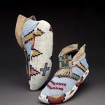 Assiniboine moccasins, 19th century.