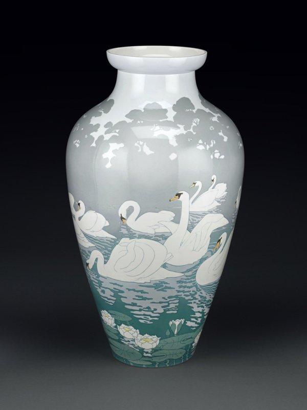 Swan vase, Sèvres, 1900