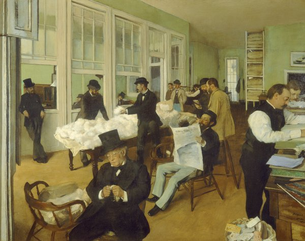 Edgar Degas, A Cotton Office in New Orleans, 1873
