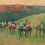 Edgar Degas, Racehorses in a Landscape, 1894