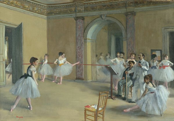 Edgar Degas, Rehearsal Hall at the Opera, Rue Le Peletier, 1872