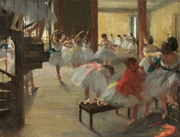 Edgar Degas, The Dance Class, circa 1873