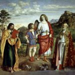 Giovanni Battista Cima da Conegliano, The Archangel with Tobiolo and Two Saints