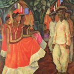 Diego Rivera, Dance in Tehuantepec (Baile in Tehuantepec), 1928
