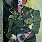 Pablo Picasso, Woman in Green (Dora), 1944