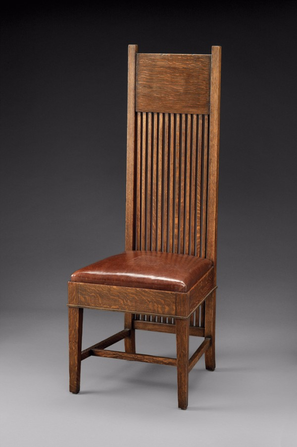 Frank Lloyd Wright, Tall back side chair