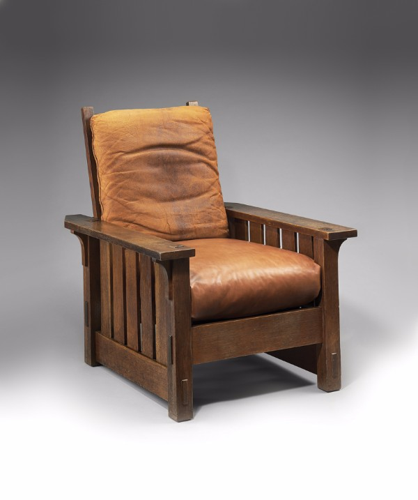 Gustav Stickley, Adjustable-Back Chair No. 2342