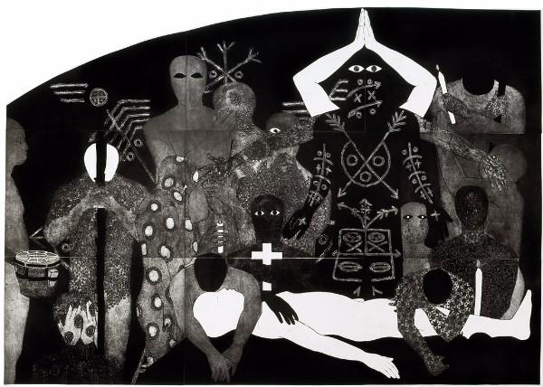 Belkis Ayón, Nlloro (Weeping), 1991