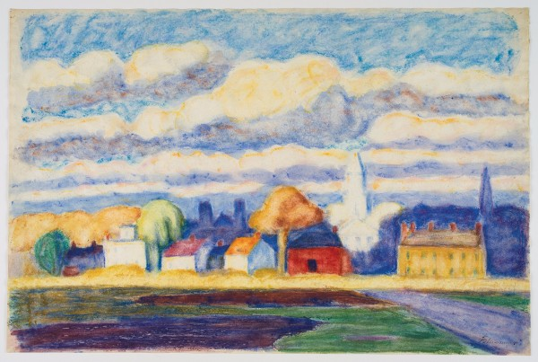 Oscar Bluemner, Newton, Long Island, 1910