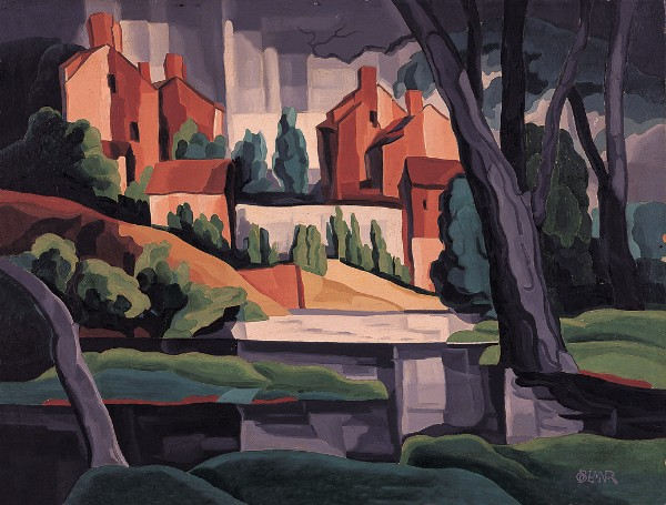 Oscar Bluemner, Sunset Effect on Rain, 1929