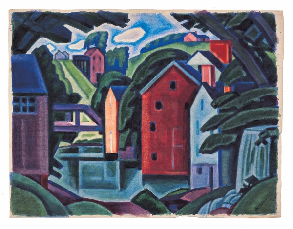 Oscar Bluemner, Montville (Movement of Space and Form, New Jersey)