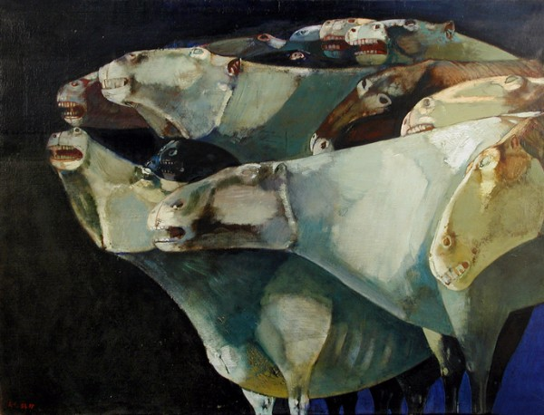 Leonardo Cremonini, I cavalli che urlano, 1954-1955