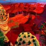 David Hockney, 9 Canvas Study of the Grand Canyon