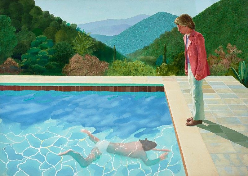 David Hockney, Portrait of an Artist (Pool with Two Figures)