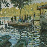 Claude Monet, left: La Grenouillére