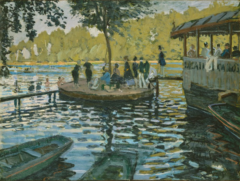 Claude Monet, left: La Grenouillére