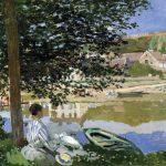 Claude Monet, canvas; On the Bank of the Seine, Bennecourt